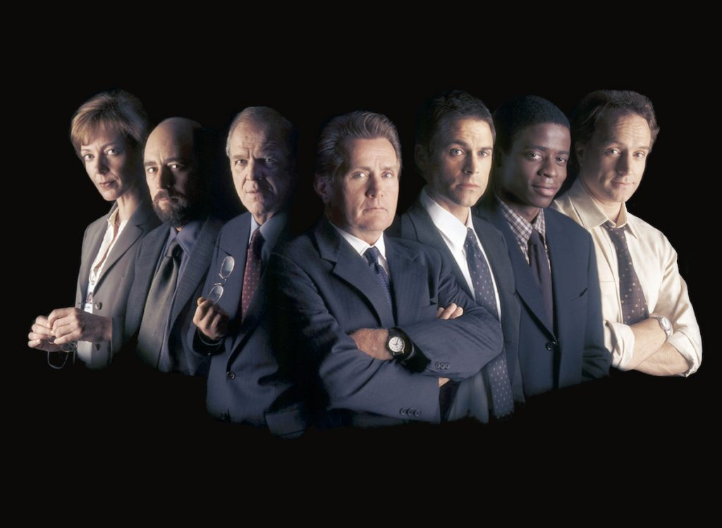 The crew of 'The West Wing.'