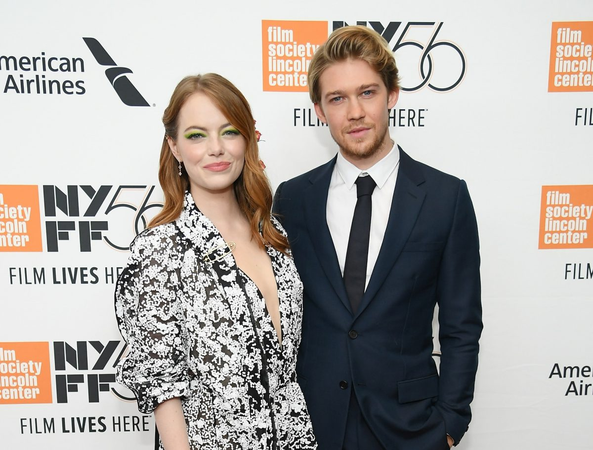 Emma Stone and Joe Alwyn will attend the opening night premiere of The Favorite on September 28, 2018, in New York City.