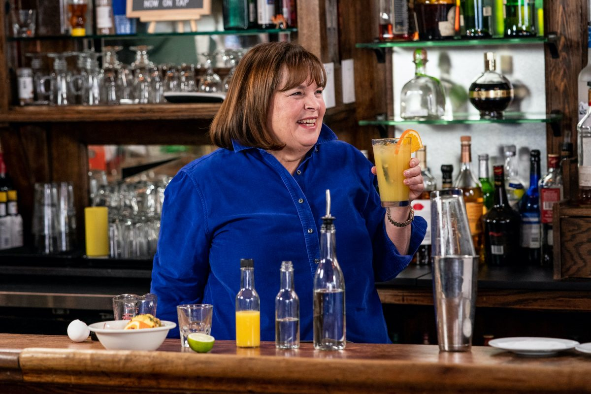 Ina Garten during 'Seth Goes Day Drinking with Ina Garten' on Late Night with Seth Meyers