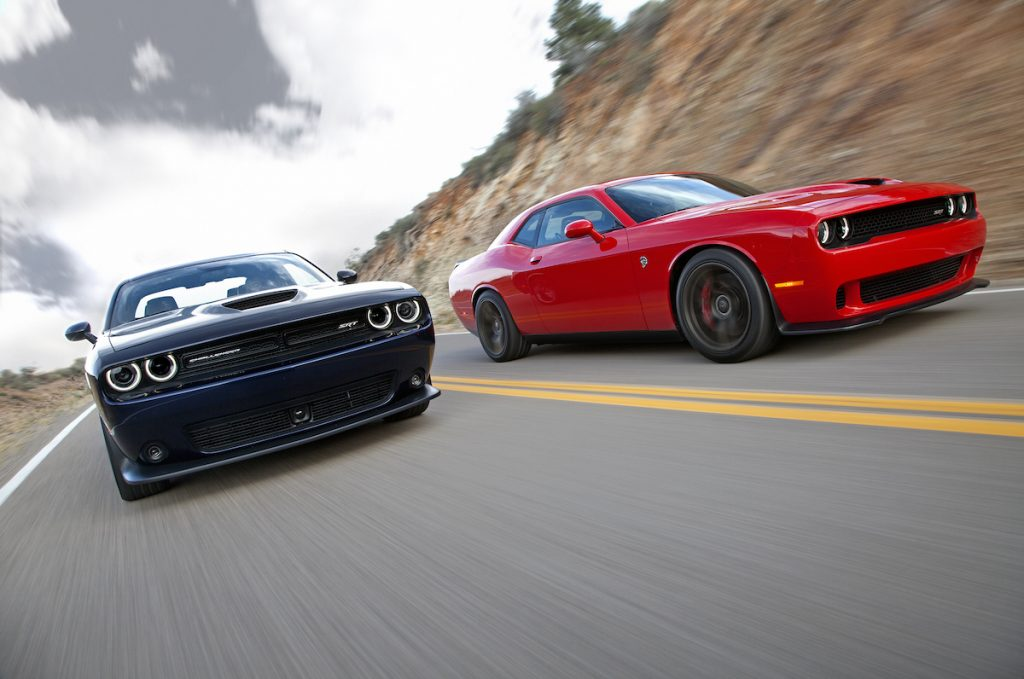 'Cobra Kai' uses many cars at its events, including Dodge Challengers similar to those pictured.
