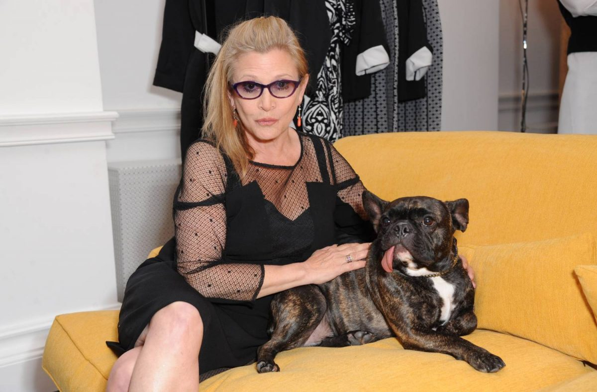 Carrie Fisher attends Marina Rinaldi launching a new dining machine on July 3, 2014 in London, England.