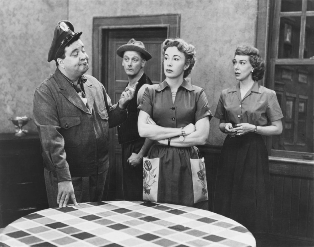 The cast of 'The Honeymooners' on TV