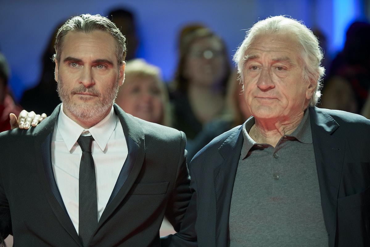 Joaquin Phoenix and Robert De Niro at the premiere of 'Joker'