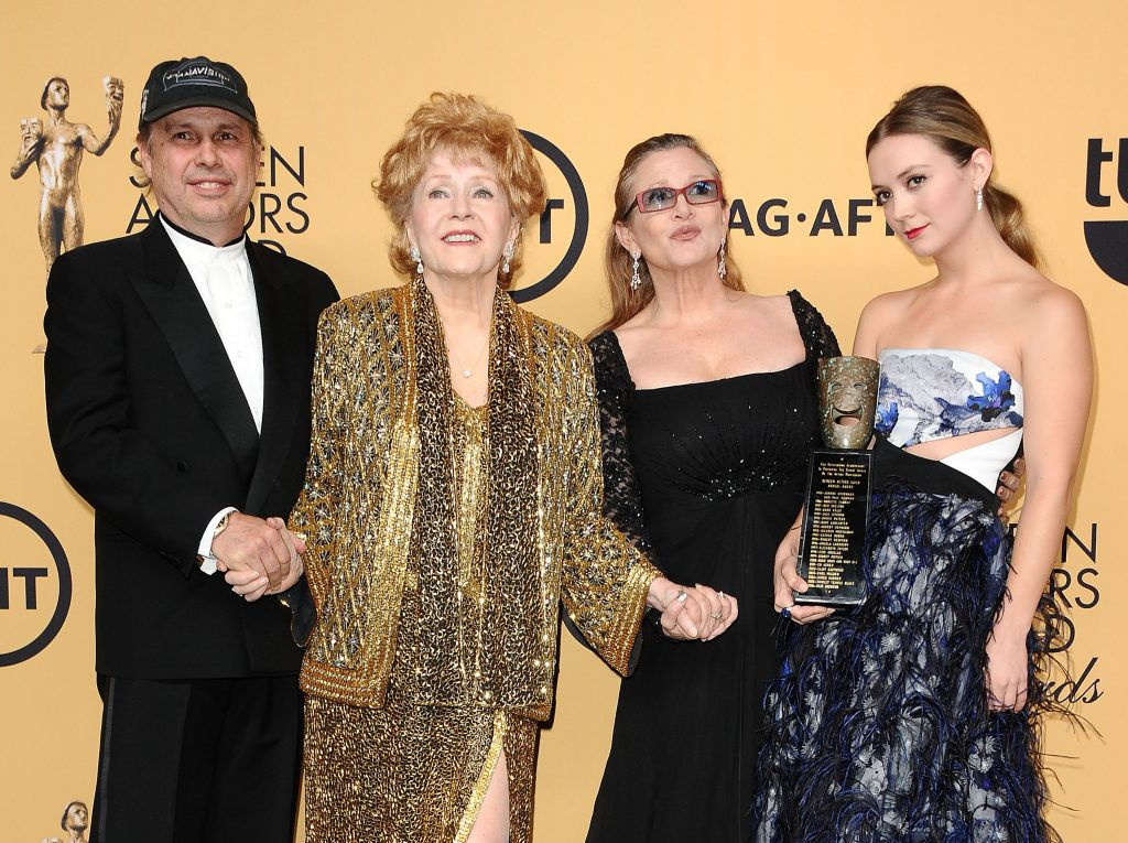 Todd Fisher, Debbie Reynolds, Carrie Fisher, and Billie Lourd