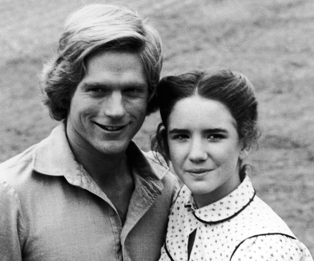 Melissa Gilbert And Dean Butler in the 'Peat House'
