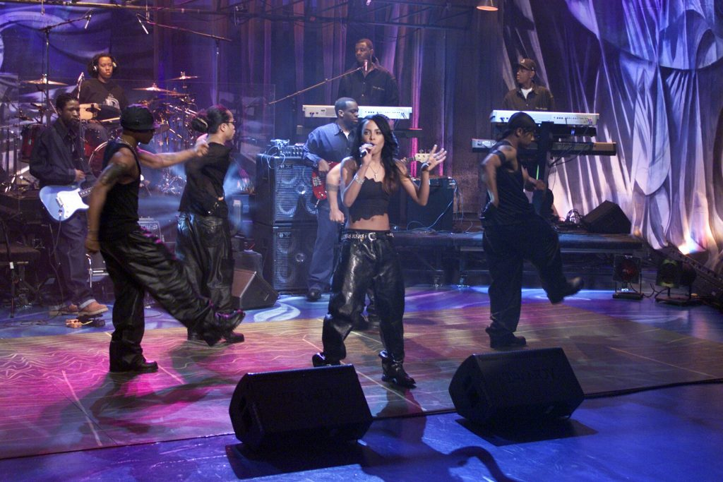 Aaliyah on The Tonight Show with Jay Leno |  Paul Drinkwater / Network / NBCU / NBCUniversal Photo Bank via Getty Images