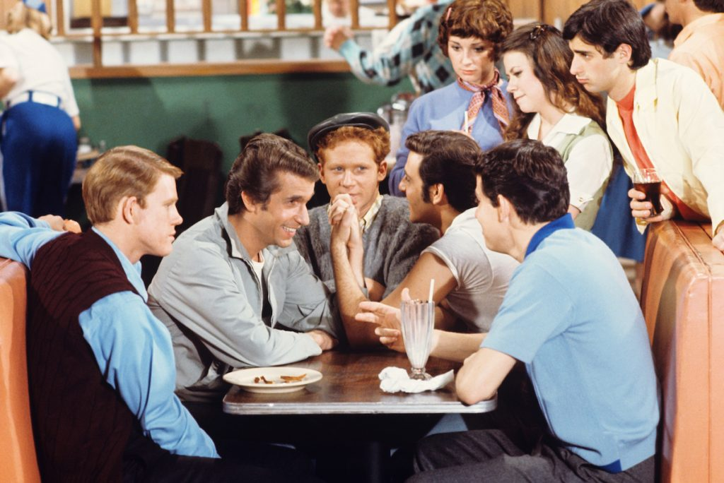 Ron Howard, Henry Winkler, Donny Most, Anson Williams on 'Happy Days'