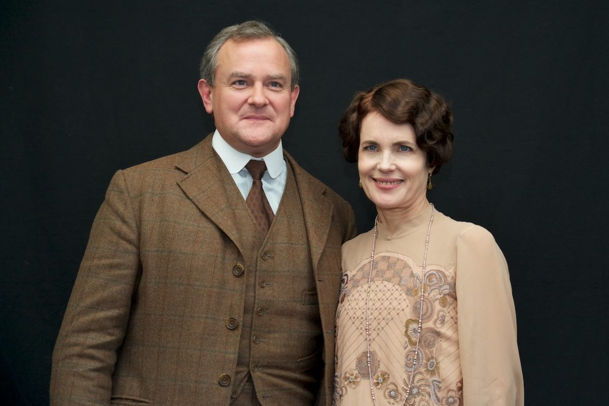 Hugh Bonneville and Elizabeth McGovern on the 'Downton Abbey' located at Highclere Castle