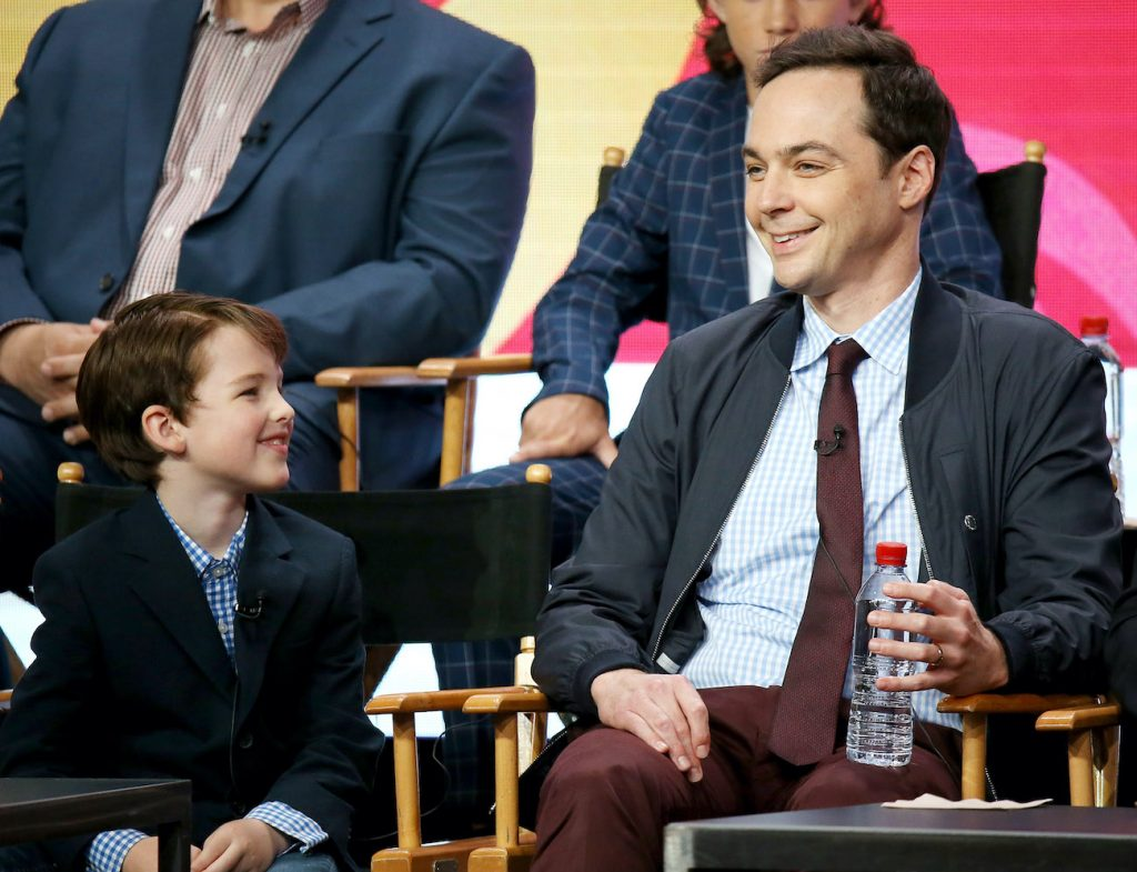 John Armitage (L) and Jim Parsons of 'Young Sheldon'