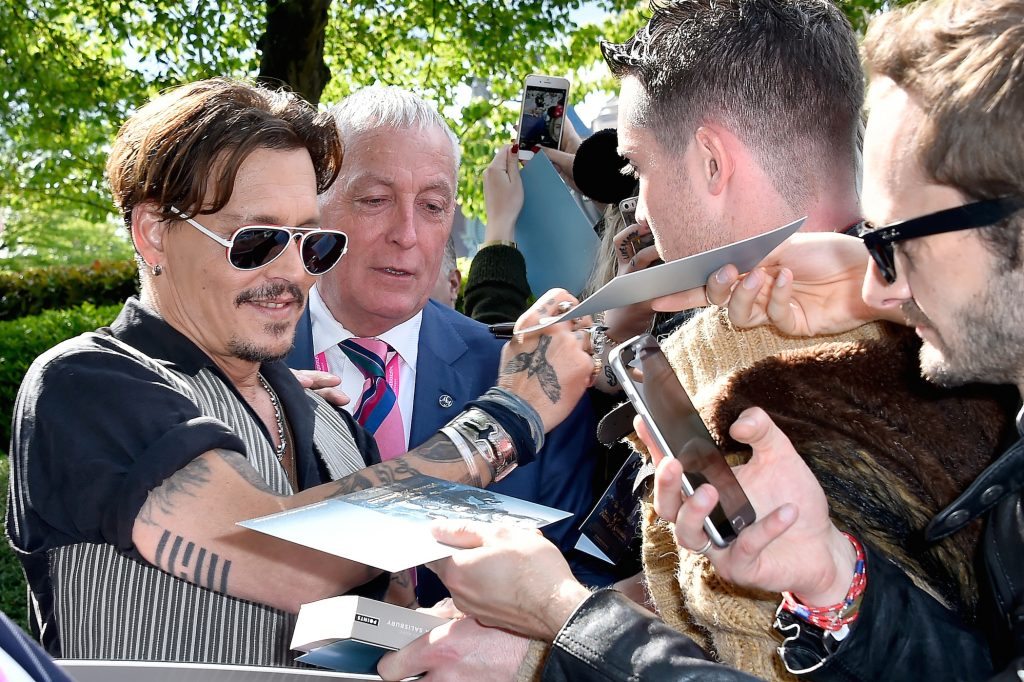 Johnny Depp at the premiere for 'Pirates of the Caribbean: Salazar's Revenge'