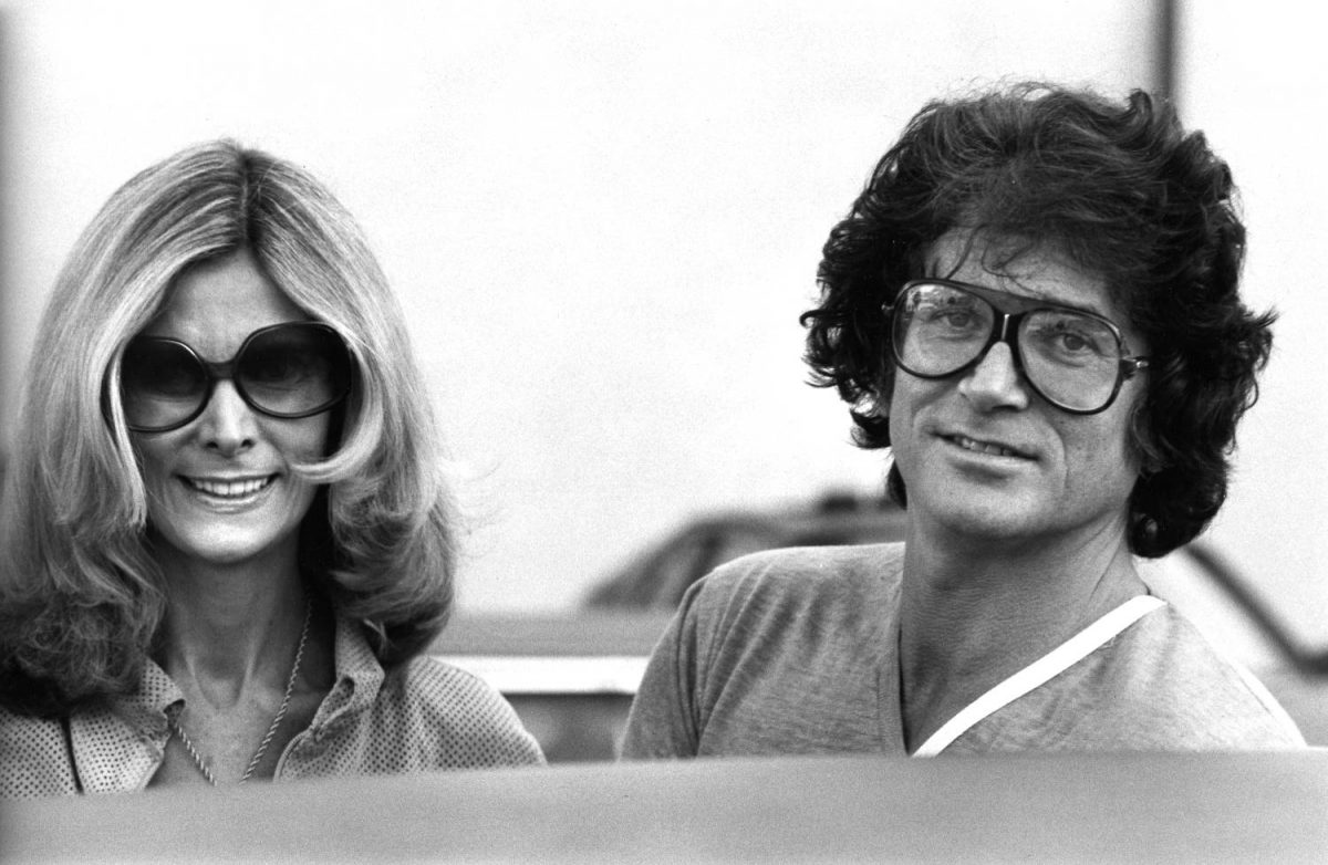 Actor Michael Landon and his wife Lynn Noe were spotted Feb. 9, 1979 on Rodeo Drive in Beverly Hills, California.