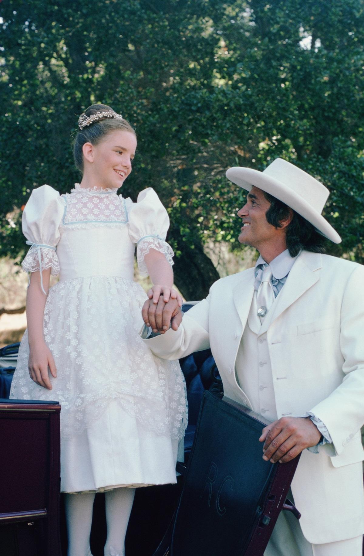 Melissa Gilbert and Michael Landon