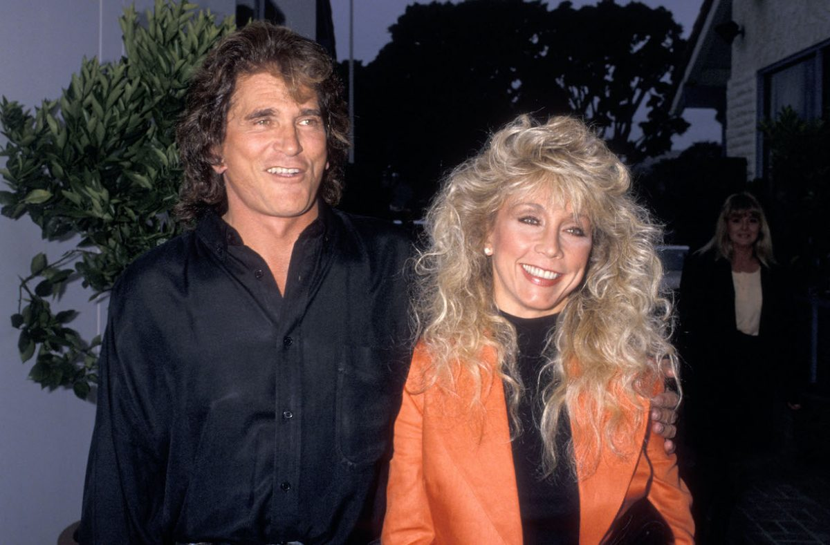 Michael Landon and his wife Cindy Landon in 1989