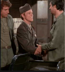(L to R): Wayne Rogers, Ron Howard, and Alan Alda on 'M * A * S * H'
