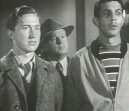 Young Leonard Nimoy, right, in 'Dragnet' on a program entitled 'The Big Boys', 1954