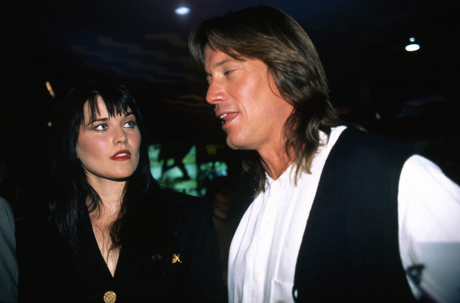 Lucy Lawless and Kevin Sorbo of Xena: Princess Warrior and Hercules: The Legendary Journeys