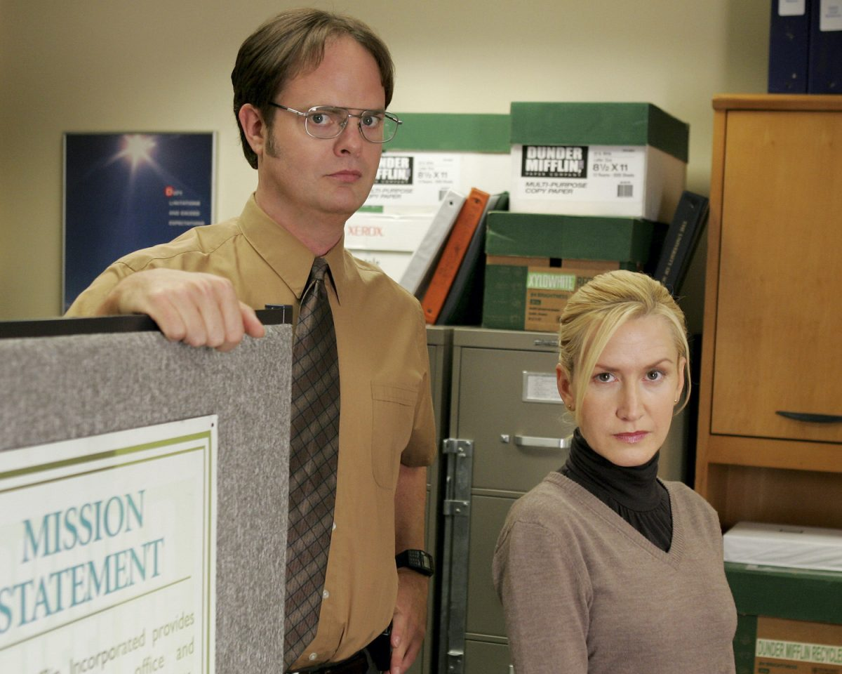 Wilson's Poems as Dwight Schrute and Angela Kinsey as Angela Martin's 'The Office'