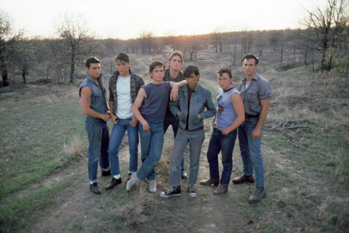 On the set of 'The Outsiders'