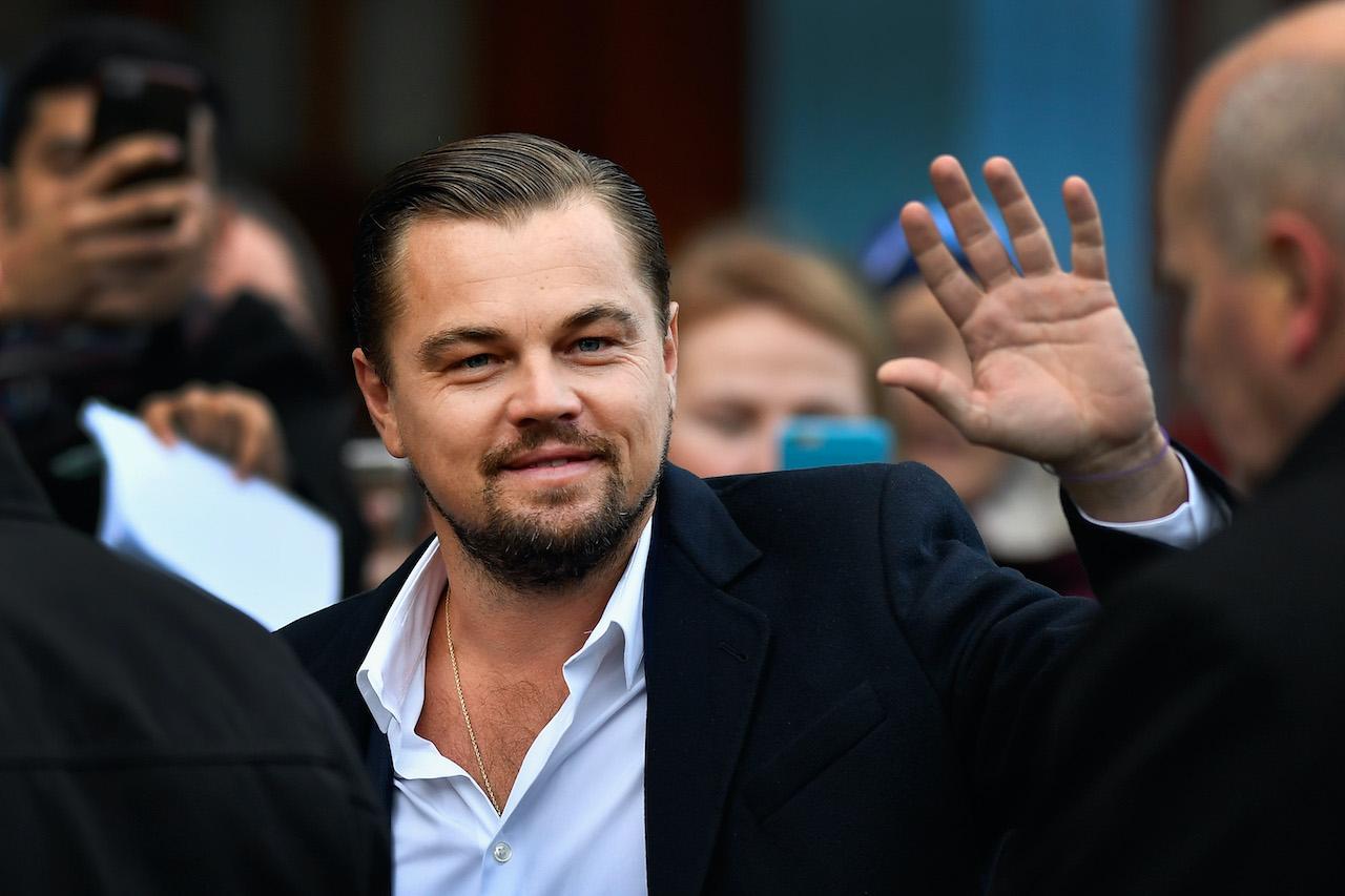 Leonardo DiCaprio arrives at Home restaurant on his first visit