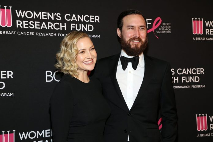 Kate Hudson wore a black dress and Danny Fujikawa wore a tuxedo to the Women's Cancer Research Fund