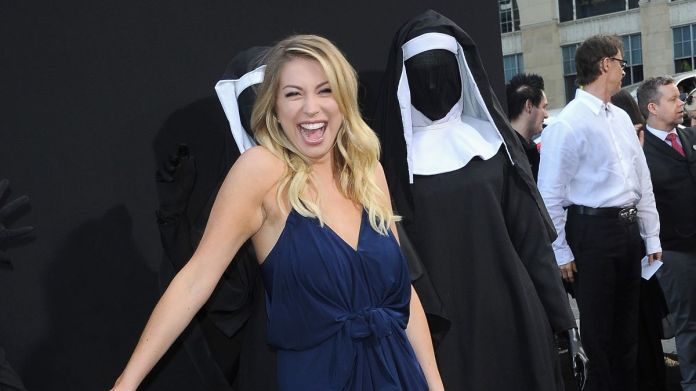 Stacy Schroeder with Nuns