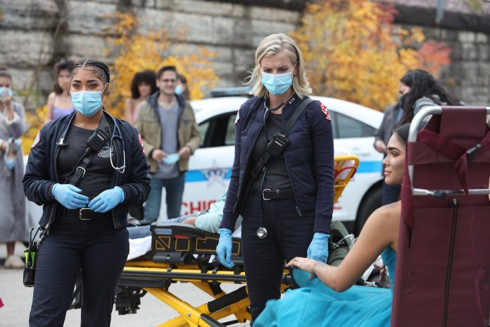 Adrian Rae on Chicago Fire as Gianna McKay and Cara Kilmer as Sylvie Brett - Adrian Rae Won't Return in Chicago Fire Season 10