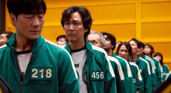 Gi-Hun and Sang-woo in Netflix's 'Squid Game'