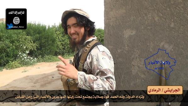 Iraq: Claimed Images Of Kazakhstan ISIS Fighter In Ramadi