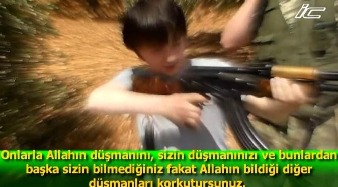 In Atma, Russian-Speaking Jabhat al-Nusra Militant Trains Child To Shoot