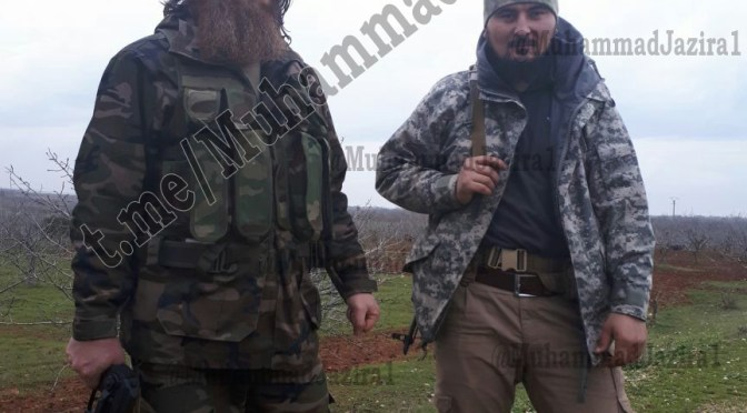 Tarkhan's Jamaat (Katiba İbad ar-Rahman) Fighting In Hama Alongside Muslim Shishani