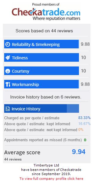 Checkatrade Rating for TIMBERTYPE