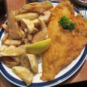 Fish and Chips at Rock and Sole Plaice - London, England