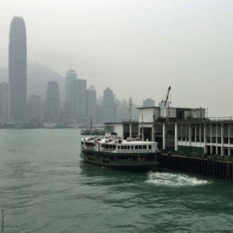 Star Ferry with Hong Kong Island in the background - Hong Kong, China
