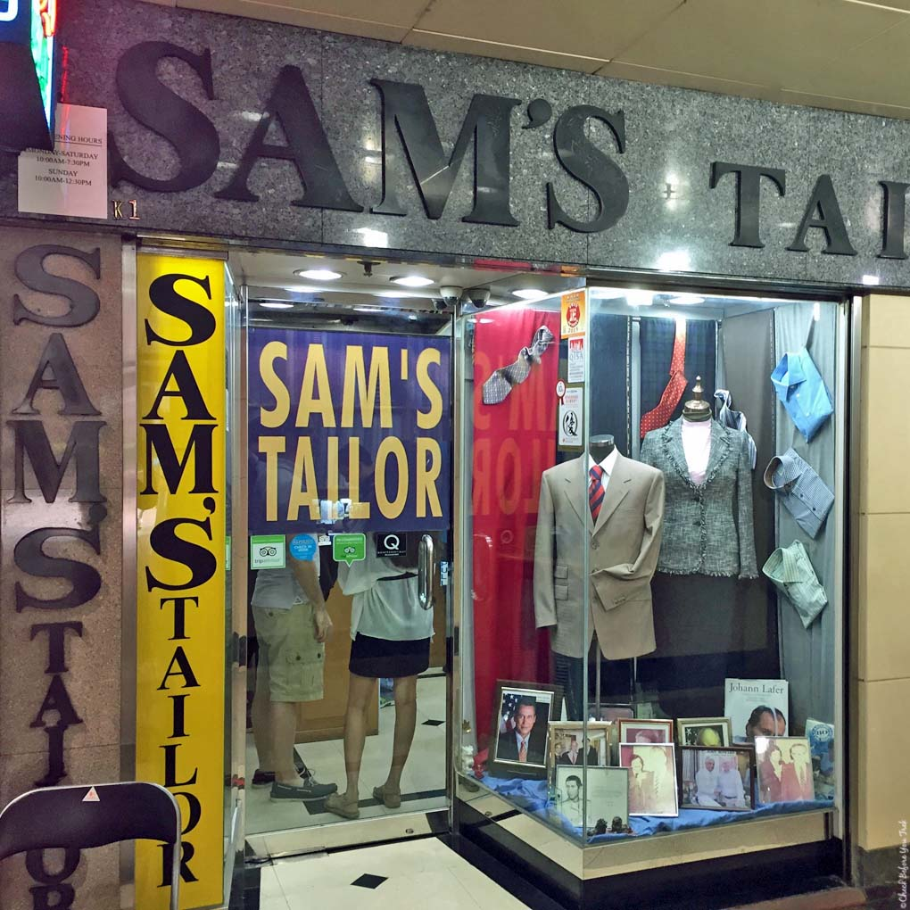 Entrance to Sam's Tailor - Tsim Sha Tsui, Hong Kong, China