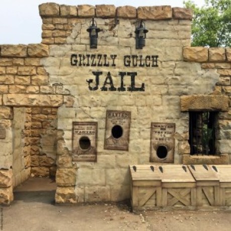 Old West jail in Grizzly Gulch - Hong Kong Disneyland, Hong Kong, China