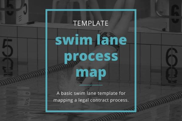 A basic swim lane template for mapping a legal contract process.