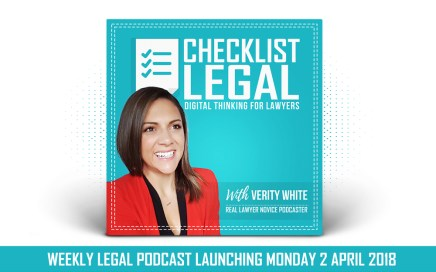 Checklist Legal Podcst with Verity White Cover Image