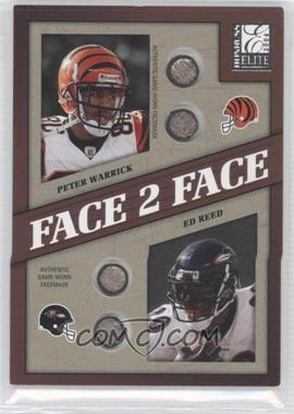 2004 Donruss Elite Face to Face Face Masks #FF23 - P.Warrick/E.Reed/125 - Courtesy of CheckOutMyCards.com