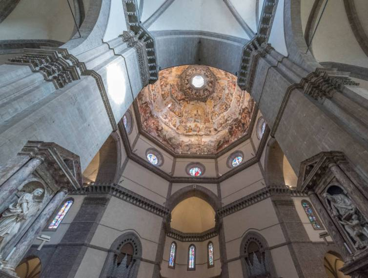 The most famous cathedral in Florence  the Santa Maria del Fiore interior duomo florence