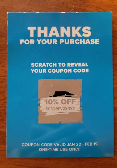 One Time Coupon