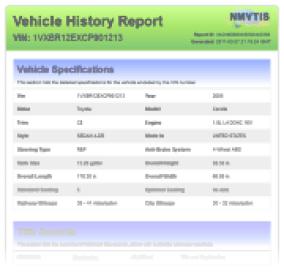 Free Car History Report >> Free Vin Check Free Vehicle History Report Free Car History