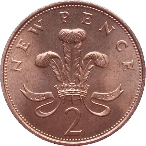 New Pence 2p Coin, 1983