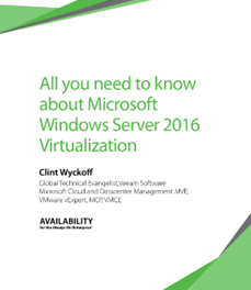 All you need to know about Windows Server 2016 – E-book now Available
