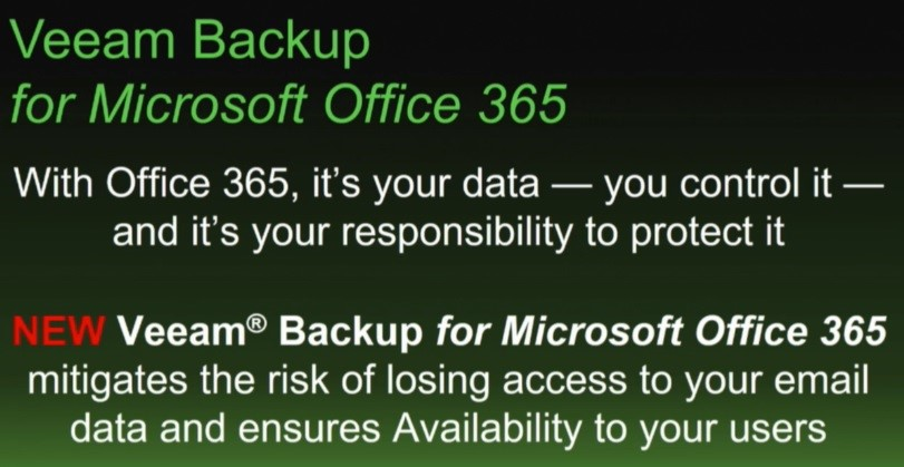 Veeam's next Big thing – Veeam can now Backup Office 365
