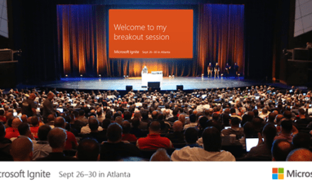 My Sessions at Microsoft Ignite 2016