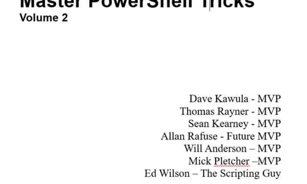 Master PowerShell Tricks – Volume 2
