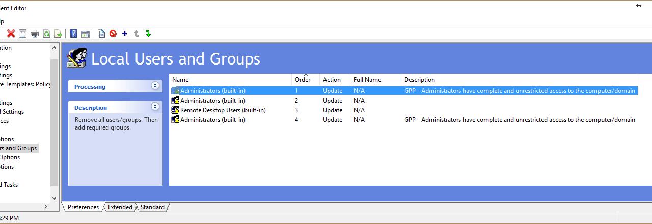 GPO/GPP – Control the Local Administrators Group