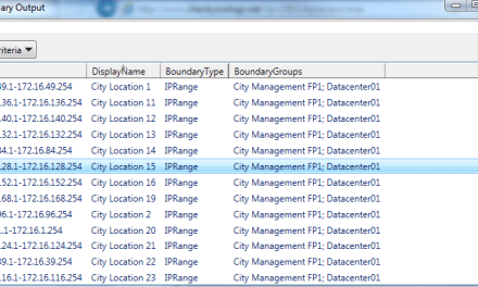 Exporting SCCM Boundaries and Boundary Group Information