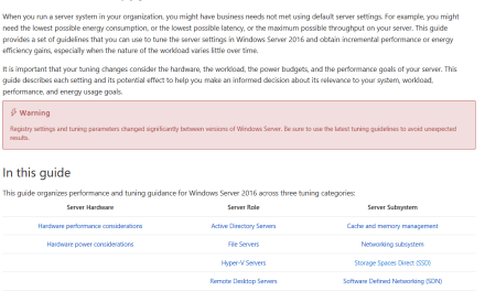 The Ultimate Performance Tuning Guide for Windows Server 2016 #HyperV #MVPHour