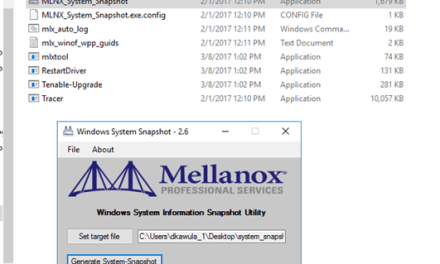 Deploying Storage Spaces Direct – Part 30 – @MellanoxTech System Snapshot 2.6 Documentation #StorageSpacesDirect #MVPHour #HyperV